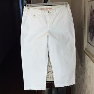 Pants - dockers  White  Capris  Cotton spandex